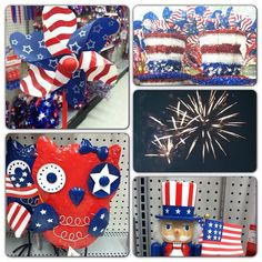 Be ready for patriotic holidays with red, white & blue decorations