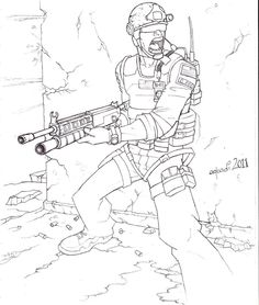 Call Of Duty Modern Warfare Coloring Pages Sketch Page