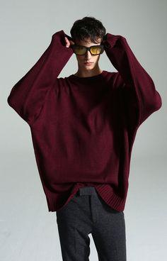 푸른바다의전설 (蓝色大海的传说 ) 이민호(李敏鎬) 착용 슬림 오버 니트 MOST SALE! MOST Emotional knit (Wine)