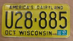 1981 Wisconsin License Plate. I remember when they looked like this.