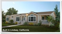 Beautiful manufactured home built in Lindsay, California. http://www.championhomes.com/home-plans-and-photos/manufactured-homes#
