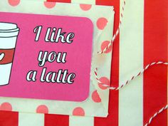 Coffee Card Valentine by amyistheparty.com