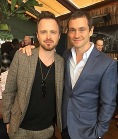 Hugh Dancy with Aaron Paul stars of The Path. Actor Gary Oldman, Breaking Bad Jesse, Aaron Paul, Bryan Cranston, Hugh Dancy, Celebrity Travel, Bellisima, Sexy Men, Movie Tv
