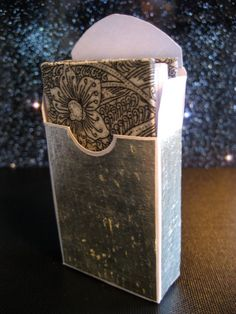 Miniature Flower Book in Silver Box by Matchbox Books