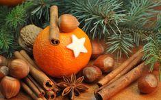 Orange With Cinnamon Sticks Ultra HD Desktop Background Wallpaper for UHD TV : Tablet : Smartphone