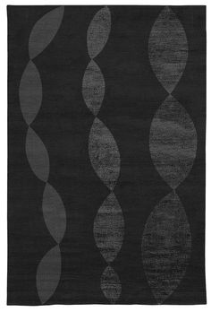 Judy Ross Hand-Knotted Custom Wool Necklace Rug black/black silk/charcoal