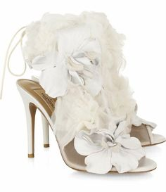 could be a very cute reception shoe with a little white short dress