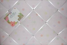 Large Laura Ashley Pink Multi Colour Mollie Spot Hand Crafted Fabric Notice / Pin / Memo Board