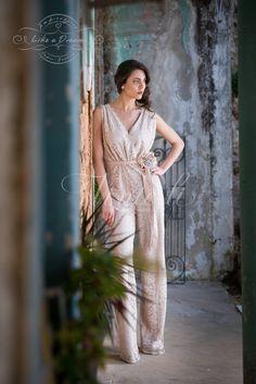 Γυναικείο: W182713 Ολόσωμη φόρμα δαντέλα,  50% Βαμβάκι - 50% Μετάξι.