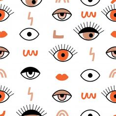 Happy Kitten, Evil Eye Art, Cute Cartoon Characters, Illustration Art Drawing, Phone Themes, Diy Canvas Art, Mural Art, Pattern Design, Eye Pattern