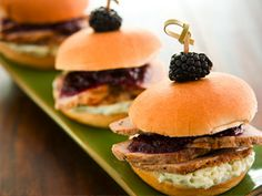 Smithfield Recipes: Grilled Pork Tenderloin Sliders with a Berry Sauce and Blue Cheese Butter