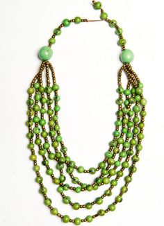 light layers necklace (seagreen), made with love in Ecuador, $56, Spring/Summer 2012 #noonday #noondaystyle #noondaycollection @Noonday Collection