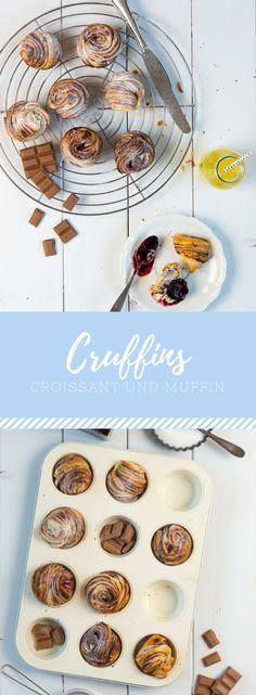 Cruffins - Croissant und Muffin. Der Foodtrend aus den USA. Ein super einfaches Rezept mit nur zwei Zutaten!