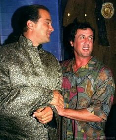 Steven Seagal and Sylvester Stallone, Martial Arts Movies, Martial Artists, Sylvester Stallone, Aikido, Kendo, Expendables 3 Cast, Celebrity Costumes, Michigan, Steven Seagal