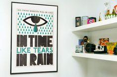 Typography print  Movie poster Blade runner  Scandinavian style Tears in rain   A2 size