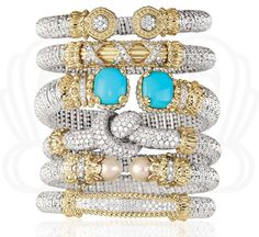 #Beauty that leaves you speechless. #Vahan #bracelets are extremely #versatile and perfect for daily wear. #Vahan #armparty #jewelry #diamonds #stackable #stacking #Cumberlanddiamondexchange #VahanLadies #diamond