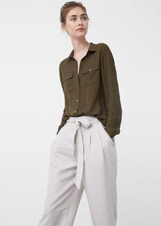 Pockets flowy shirt   MANGO