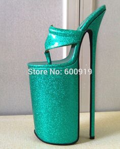 (254.15$)  Watch now  - 30cm Heel Height Sexy  PU Round Toe Stiletto Heel sandals (More Colors)  NO.p3020