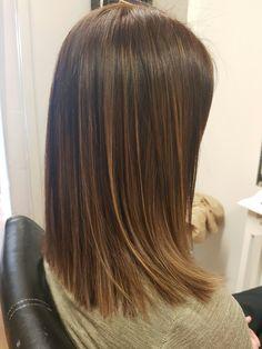 Pin on Hair Brown Hair Balayage, Hair Highlights, Ombre Hair, Hair Inspo, Hair Inspiration, Medium Hair Styles, Short Hair Styles, Shoulder Length Hair, Cool Hair Color