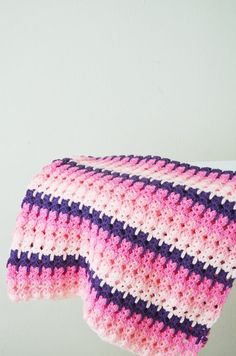 41 x 41  Pink and Purple crochet  blanket Granny by NesrinArt, $50.00