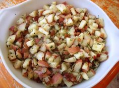 """German Potato Salad: """"I made this for an Oktoberfest party and our guests raved about it. It was even awesome without the bacon."""" -mundaetraversa"""