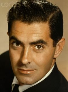 Tyrone Power . . . .handsome and debonair actor from the 1930's and 40's!