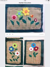 New Free of Charge weaving projects for preschoolers Concepts Applikation Fabric Art, Fabric Crafts, Sewing Crafts, Sewing Projects For Kids, Sewing For Kids, Kindergarten Art Projects, 4th Grade Art, Weaving Projects, Preschool Art
