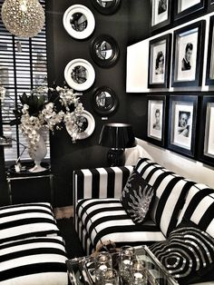 Black and white living room decor black and white home decor also with a black and . black and white living room decor White Home Decor, Black Decor, Goth Home Decor, Home Decor Items, Black And White Interior, Black And White Furniture, Black And White Living Room Ideas, Striped Furniture, White Rooms