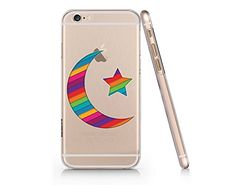 Crescent Moon Merry Christmas Clear Transparent Plastic Phone Case for iphone 6 6s_ SUPERTRAMPshop (VAS490) SUPERTRAMPshop