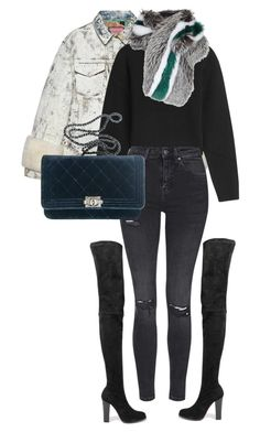 """""""#199"""" by nataliyabodnar ❤ liked on Polyvore featuring Christian Louboutin, Gucci, Anthony Vaccarello, Lilly e Violetta, Topshop and Chanel"""