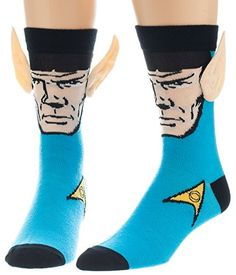 Mens Star Trek Spock Socken mit 3D-Ears Blau