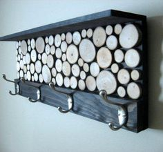 Branching Out: Art & Decor From Wood Slices, Branches, Twigs & Driftwood Rustic Modern Coat Rack with Hooks and Shelf – Made To Order Woodworking Joints, Woodworking Workbench, Woodworking Techniques, Woodworking Furniture, Fine Woodworking, Woodworking Projects, Woodworking Workshop, Woodworking Classes, Woodworking Videos