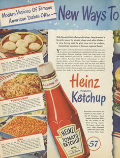 1940s Heinz Ketchup Ad Vintage Advertising Print by AdVintageCom