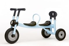 Non-pedal double trike. (First-birthday present for the twins.)