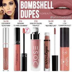 Kkw beauty dupes for the kim kardashian wet n wild color icon blush mellow wine hourgl opaque rouge liquid lipstick huda beauty liquid matte lipstickHuda Beauty S Liquid Matte Lipstick Dupes All. Dupes Nyx, Blush Dupes, Drugstore Makeup Dupes, Beauty Dupes, Beauty Makeup, Eyeshadow Dupes, Nyx Cosmetics, Kylie Dupes, Makeup Tips
