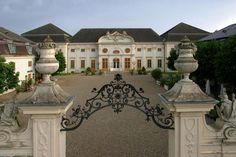 """The old residential wing of Schloss Halbturn, the most important baroque castle in Burgenland, now houses the castle's hotel """"Knappenstoeckl"""". With Lake Neusiedl nearby the castle hotel Village Inn, Hotels, Heart Of Europe, Bold And The Beautiful, Luxury Accommodation, Yorkie, Austria, Palace, Castle"""