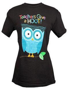 Teachers Give A Hoot Tee