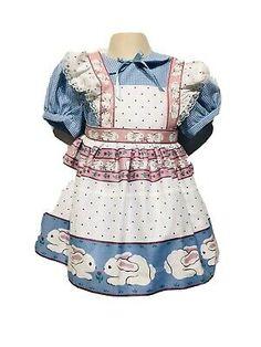 Vintage Daisy Kingdom Girls Dress Toddlers Bunny Rabbit Sz 2T Pinafore Gingham  | eBay Baby Girl Party Dresses, Toddler Girl Dresses, Blue Gingham, Gingham Check, Vintage Girls Dresses, Blue Dresses, Apron Dress, Bunny Rabbit, Toddlers