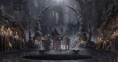 The Dark Sorcerer (Quantic Dream) Cave by djahal.deviantart.com on @deviantART