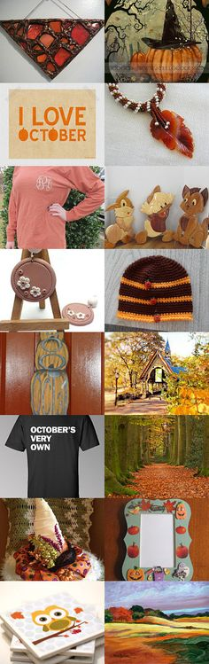 H E L L O.......October !! by Betty S. on Etsy--Pinned with TreasuryPin.com #octoberfinds