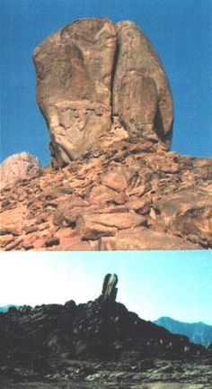 This rock has been discovered in Saudi Arabia, thought to be rock struck by Moses that brought forth water for the people. Mount Sinai Egypt, Monte Sinai, Unexplained Pictures, Joseph In Egypt, Saudi Arabia, Arabia Saudí, Christian Images, Archaeological Discoveries, Ancient Mysteries