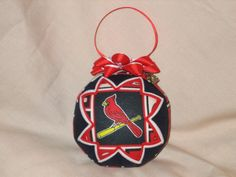 ST LOUIS CARDINALS Ornament Made From Cardinals Fabric,Cardinals Ornaments,Quilted Ornaments,Baseball Ornaments,St Louis Cardinal,Sports by JCQuiltedOrnaments on Etsy