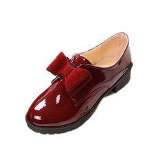 newest 4623a 10e4e Charol Oxford Zapatos Para Mujeres Estilo Británico de La Vendimia Arco  Mujeres Oxfords Zapatos Planos Del