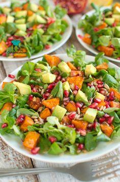 Sałatka z batatami, granatem i awokado Pasta Salad, Cobb Salad, Tortellini, Food And Drink, Breakfast, Ethnic Recipes, Food Ideas, Image, Diet
