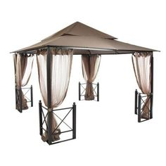Hampton Bay 12 ft. x 12 ft. Harbor Gazebo-GFS01250A - The Home Depot .... Id love this out back on the patio!