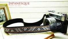 lusikka oriental black camera strap