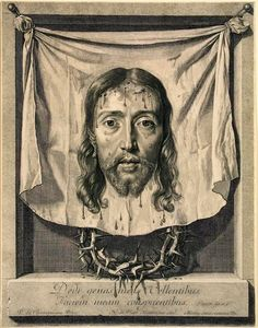 Nicolaus de Platte-Montagne, After Philippe de Champaigne, The Sudarium, late century, Etching And Engraving Veil Of Veronica, St Veronica, Catholic Art, Religious Art, Philippe De Champaigne, Jesus Face, Vintage Wall Art, Art Google, Saints