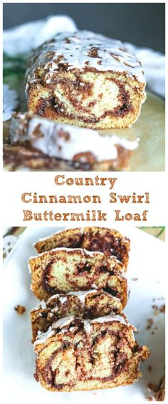 Country Cinnamon Swirl Buttermilk Loaf - Super moist Country Cinnamon Swirl Buttermilk Loaf infused with carmelized cinnamon sugar swirls that will make your head spin! (In a good way!) #buttermilk #loaf #bread #cinnamonbread #cinnamon #breakfast #brunch