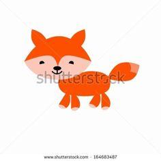 Fox cartoon cute vector illustration by monoo, via Shutterstock