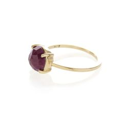 Dear Rae // 9ct yellow gold Indian Ruby ring